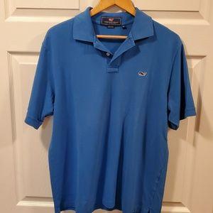 Vineyard Vines polo shirt size M. Color blue. EUC